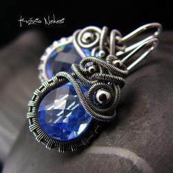 nehesi,kolczyki,srebre,srebra,wire wrapping, - Kolczyki - Biżuteria