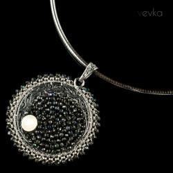 moonstone,spinel,wisior z kamieniem księżycowym - Naszyjniki - Biżuteria