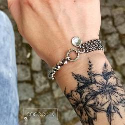 gruba,łańcuszkowa,srebro oksydowane,prezent - Bransoletki - Biżuteria