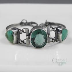 bransoleta z turkusem,unikatowa bransoleta - Bransoletki - Biżuteria