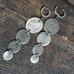 kolczyki wiszące,kolczyki srebrne, - Kolczyki - Biżuteria