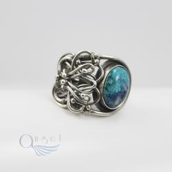 pierścień wire wrapping,pleciony pierścień - Pierścionki - Biżuteria