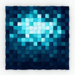 drewniana mozaika,niebieska,granatowa,morze,głębia - Obrazy - Wyposażenie wnętrz
