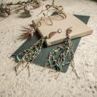 Kolczyki lniana biżuteria,kolczyki z drewna