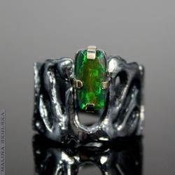 organiczny,opal,efektowny,regulowany,luksusowy - Pierścionki - Biżuteria
