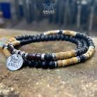 Bransoletki surowa biżuteria męska,bransoleta z koralików