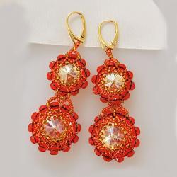 Kolczyki pomarańcze Swarovski - Kolczyki - Biżuteria