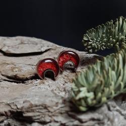 kolczyki Lunule,księżyc,biżuteria symboliczna - Kolczyki - Biżuteria