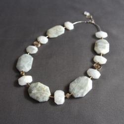 geometryczny naszyjnik,duże foemy,minimalizm - Naszyjniki - Biżuteria