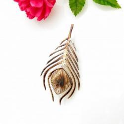 pióro,broszka,srebrna,prezent,dla niej, - Broszki - Biżuteria