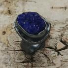 Pierścionki azuryt,blask,minerał,matowy,szary,kobalt,srebrny