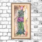 Obrazy szparag,obraz,akwarele,kuchenny,martwa natura