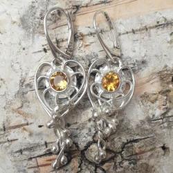 cytryny,blask,żółte,srebrne,srebro,delikatne,złoty - Kolczyki - Biżuteria