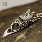 Dla mężczyzn biżuteria męska,naszyjnik ze srebra z czaszką