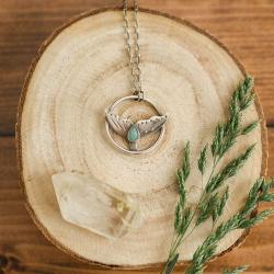delikatny,morski,subtelny naszyjnik - Naszyjniki - Biżuteria