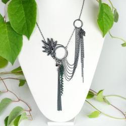 asymetryczny naszyjnik srebrny,alabama studio - Naszyjniki - Biżuteria
