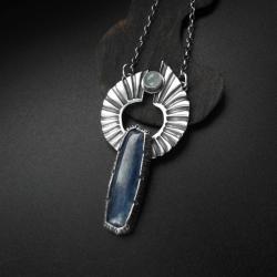 naszyjnik,kianit,biżuteria artystyczna,fiann - Naszyjniki - Biżuteria