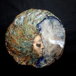 Maska,twarz,dekoracja,ceramika,Luna - Ceramika i szkło - Wyposażenie wnętrz