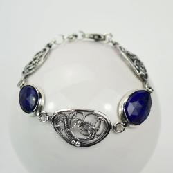 elegancka,misterna,retro,bransoletka,lapis, - Bransoletki - Biżuteria