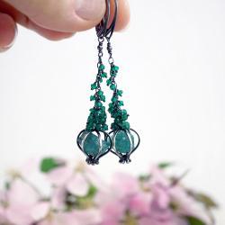 długie wiszące kolczyki na lato,prezent dla niej - Kolczyki - Biżuteria