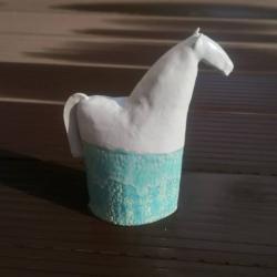 kon,koń,konik,koń ceramiczny,rzeźba - Ceramika i szkło - Wyposażenie wnętrz