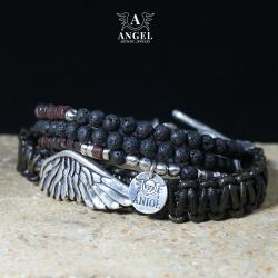 bransoleta męska ze skrzydłem,surowa biżuteria - Bransoletki - Biżuteria