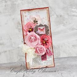 bukiet,kwiaty,życzenia,uniwersalna,motyl - Kartki okolicznościowe - Akcesoria