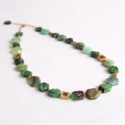 geometryczny,zielony,hexagony - Naszyjniki - Biżuteria