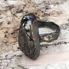 Pierścionki SUROWY pierścionek Z METEORYTEM ŻELAZNYM Campo