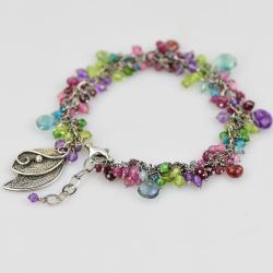 bogata bransoletka,tęczowa,kolorowa,filigran - Bransoletki - Biżuteria