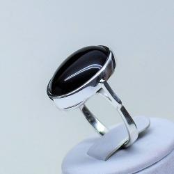 pierścionek z onyksem,srebro,biżuteria,pierścionki - Pierścionki - Biżuteria