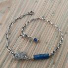 Bransoletki bransoletka z granatowym szkłem antycznym,afgańsk