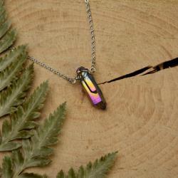 kwarc tytanowy,aura,wisiorek,talizman,amulet - Naszyjniki - Biżuteria