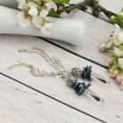 Kolczyki kolczyki z łańcuszkami,długie kolczyki,perły