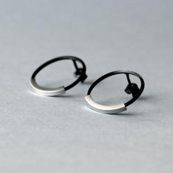 oksydowane kolczyki wkrętki - Kolczyki - Biżuteria
