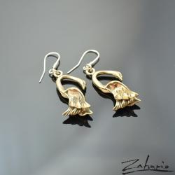 zahario,kolczyki,bronze,labedz,symbol,dusza, - Kolczyki - Biżuteria