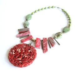 etno,jadeit,tao,taoizm,symbol,szczęście, - Naszyjniki - Biżuteria