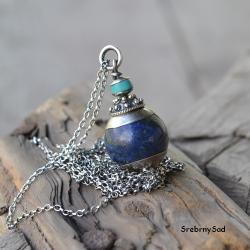 baśniowy naszyjnik,niebieski naszyjnik,turkusowy - Naszyjniki - Biżuteria