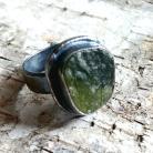 Pierścionki wezuwian,srebrny,retro,minerał,pierścionek,szary,