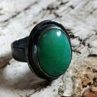 Pierścionki chryzopraz,blask,zielony,pastelowy,kamień,srebro,