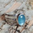 Pierścionki akwamaryn,srebro,srebrny,blękit,wisior,neibieski