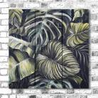 Obrazy tryptyk,akryl,tropikalny las,obraz na płotnie