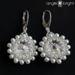 Kolczyki Swarovski Perły -Srebrne - Kolczyki - Biżuteria