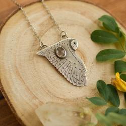 wisior z sową,elegancki naszyjnik,leśny - Naszyjniki - Biżuteria