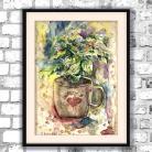 Obrazy Filiżanka kawy,obraz,kawowy,akwarela,prezent