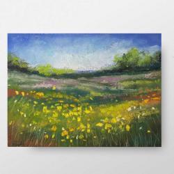 obraz na ściane pastele,łąka,kwiaty,klasyka - Ilustracje, rysunki, fotografia - Wyposażenie wnętrz