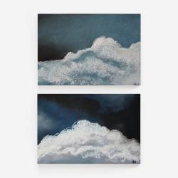 pastele,chmury - Obrazy - Wyposażenie wnętrz