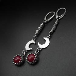 kolczyki,biżuteria srebrna,długie,z kamieniami - Kolczyki - Biżuteria