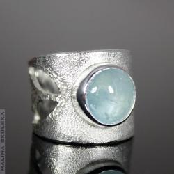 Akwamaryn,ażurowy,regulowany, - Pierścionki - Biżuteria