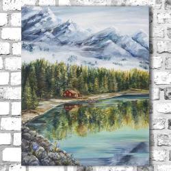 krajobraz,góry,las,natura - Obrazy - Wyposażenie wnętrz